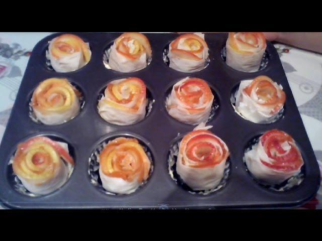 Rețetă desert: Trandafiri din mere - rețetă de post(video)