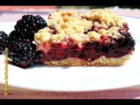 Rețetă desert: Prăjitură cu mure(video)