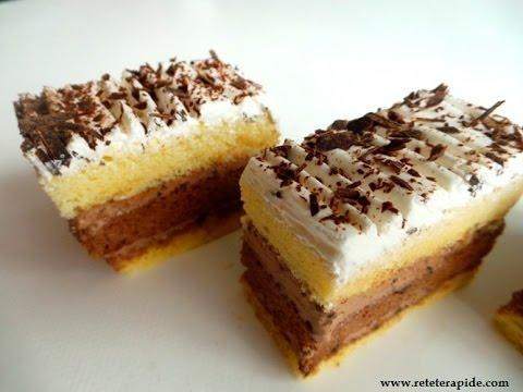 Rețetă desert: Prăjitură cu vanilie și ciocolată(video)