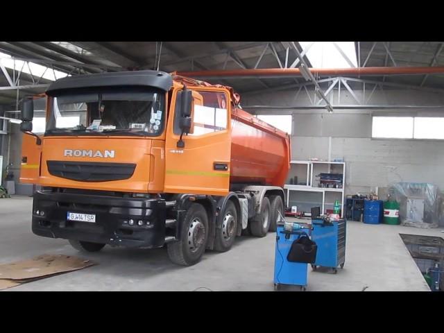 Autocamion ROMAN 40440 bagat la testerul TEXA IDC4