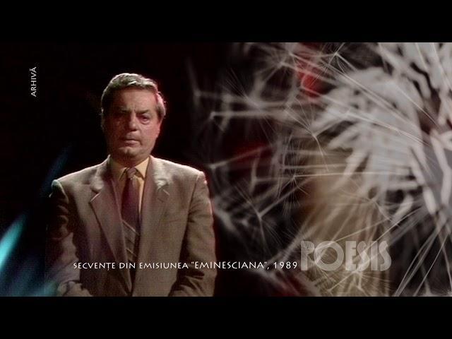 """Silviu Stănculescu - """"Din valurile vremii"""" de Mihai Eminescu (@Arhiva TVR)"""