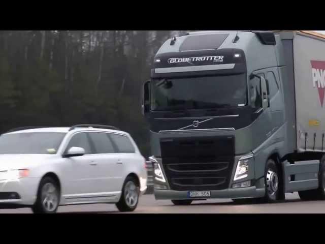 Teste de franare - camioane Volvo
