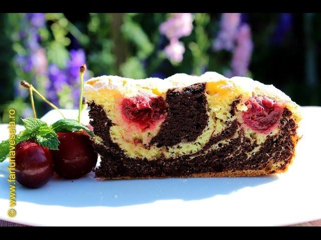 Rețetă desert: Prăjitură Zebră cu vișine (video)