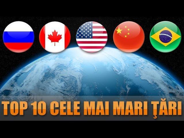 Top 10 cele mai mari ţări din lume