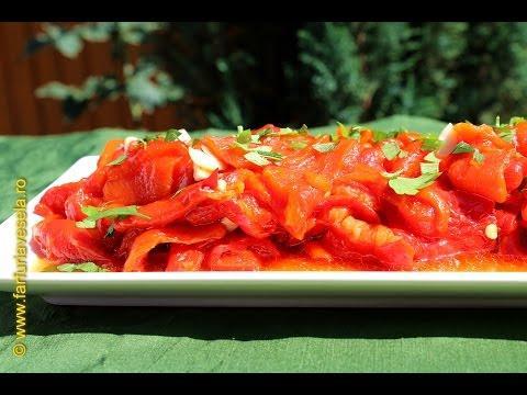 Rețetă salată de ardei copți(video)
