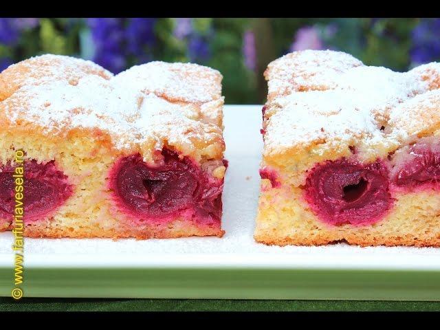 Rețetă desert: Pandișpan pufos cu vișine(video)